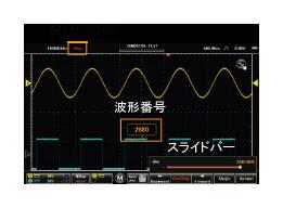 GDS-200 オシロスコープのリプレイ機能
